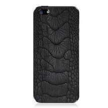 iPhone 5 Back Genuine Ostrich Leg Black Matte