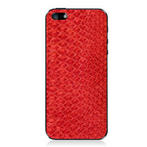 iPhone 5 Back Genuine Python Red - Small Scale