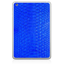 iPad Back Genuine Python Cobalt