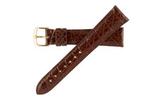 Genuine Crocodile Watch Band Honey