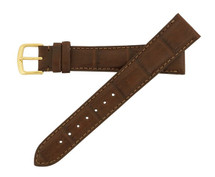 Genuine Alligator Watch Band Matte Chestnut - Cartier Style