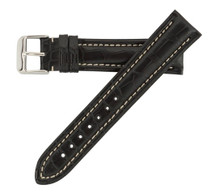 Genuine Alligator Watch Band Black - Breitling Style