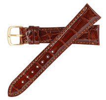 Genuine Alligator Watch Band Glazed Tan
