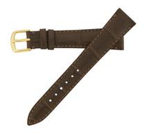 Genuine Alligator Watch Band Semi-Matte Brown