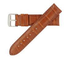 Genuine Alligator Watch Band Matte Tan