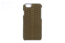 iPhone 6/6S Case Genuine Python Olive