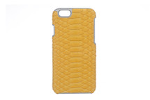 iPhone 6/6S Case Genuine Python Yellow