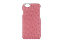 iPhone 6/6S Case Genuine Ostrich Pink