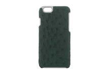 iPhone 6/6S Case Genuine Ostrich Anthracite