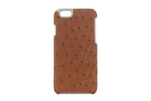 iPhone 6/6S Case Genuine Ostrich Brandy