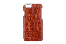 iPhone 6/6S Case Genuine Crocodile Glazed Cognac