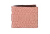 Hipster Genuine Python Wallet Matte Pink