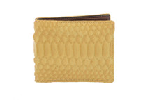 Hipster Genuine Python Wallet Matte Yellow