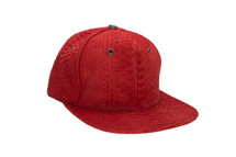 Genuine Python Hat Red Gunmetal