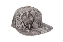 Genuine Python Hat Natural Gold