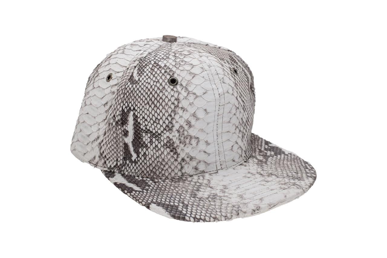 Genuine Python Hat Natural Gunmetal - Sterling Kane 6120b562881
