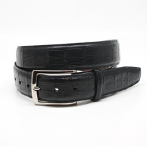 Genuine Caiman Belt Matte Black