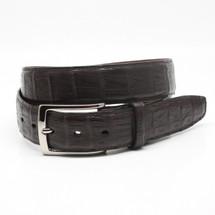 Genuine Caiman Belt Matte Brown