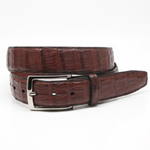 Genuine Caiman Belt Matte Cognac