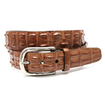 Genuine Hornback Crocodile Belt Saddle