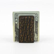 Genuine Elephant Magnetic Money Clip Cognac