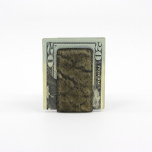 Genuine Elephant Magnetic Money Clip Olive