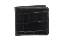 Hipster Genuine Alligator Wallet Glazed Black