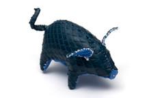 Piggy Charm Python Skin Blue