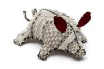 Piggy Charm Python Skin Unbleached Natural