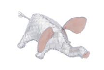 Elephant Charm Python Skin Silver