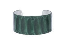 Cuff Bracelet Python Skin Forest Green