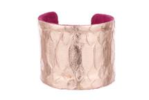 Cuff Bracelet Python Skin Rose Gold