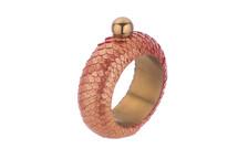Flask Bracelet Python Skin Crisp Red Gold