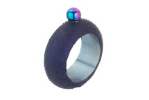Flask Bracelet Python Skin Metallic Navy