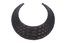 Necklace Python Skin Matte Black
