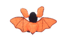 Bat Charm Python Skin Neon Orange