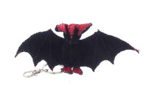 Bat Charm Anaconda Skin Unbleached Red