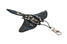 Stingray Charm Python Skin Blue/White