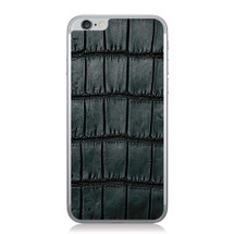 iPhone 6 Back Genuine Alligator Black Oiled