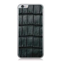 iPhone 6 Back Genuine Alligator Black Oiled