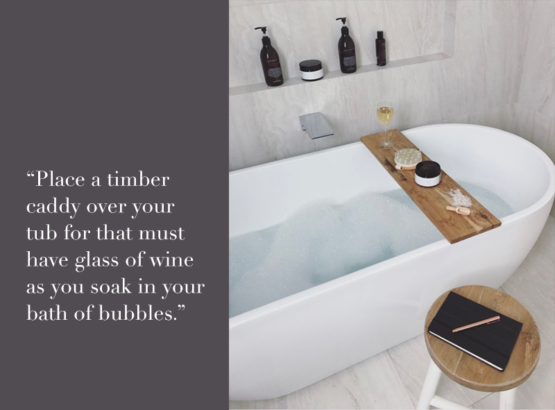 Place A Timber Caddy Over Your Tub