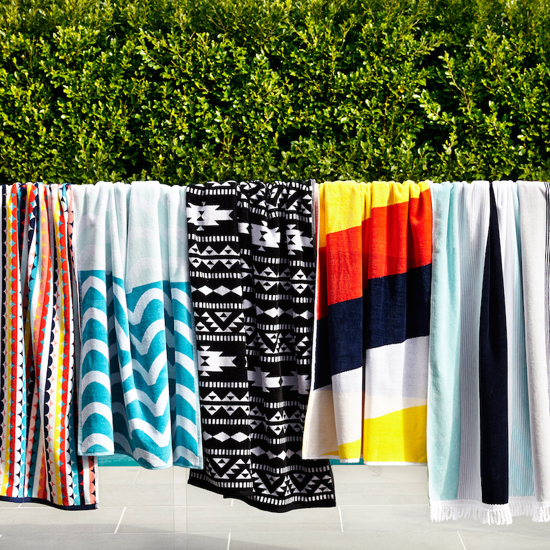 Extra Large Deluxe Cotton Velour Beach Towels