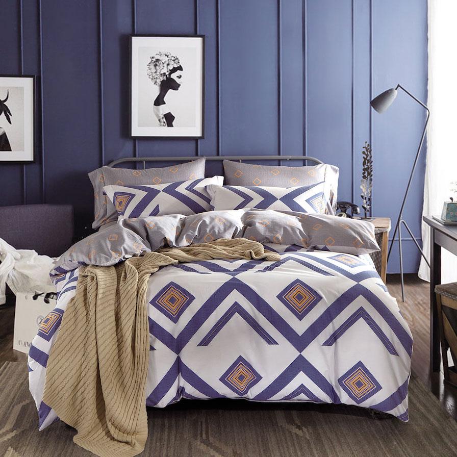 Modello Cinque Terre 100% Cotton Printed Reversible Quilt Cover Set