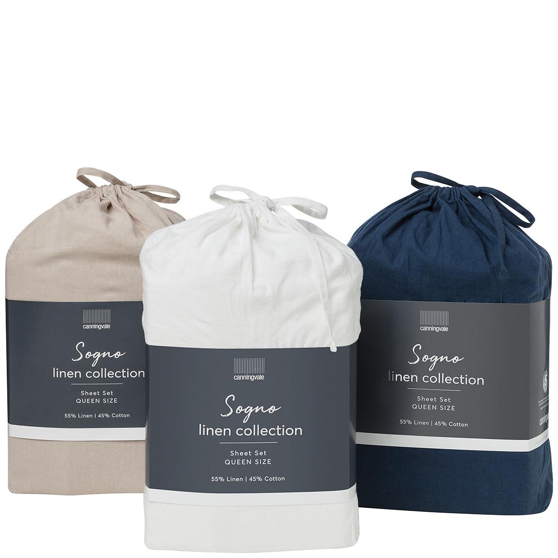 Canningvale Sogno Linen Cotton Sheet Set