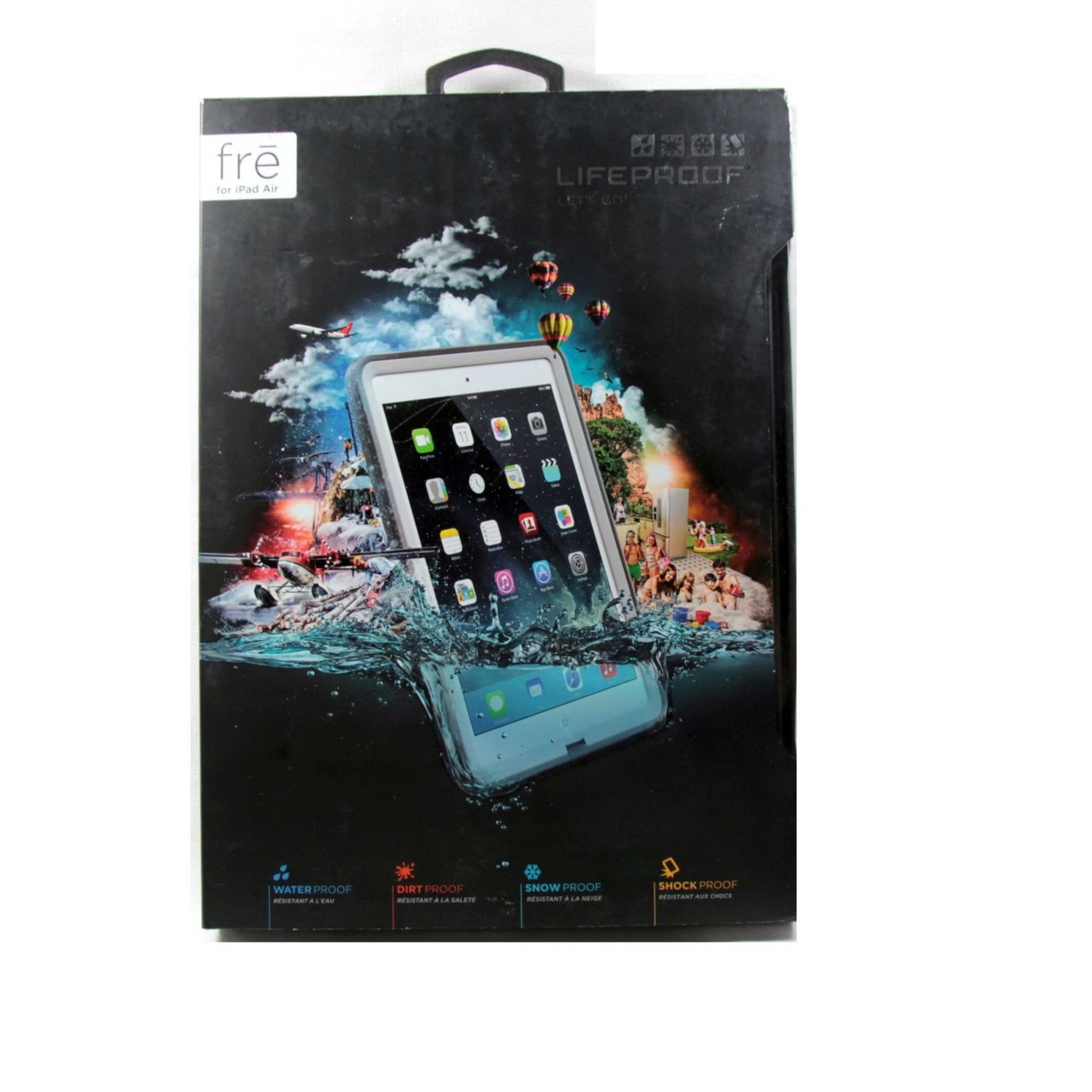 online retailer cc291 2901b Lifeproof Fre Case for iPad Air White Grey