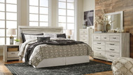 Ashley Bellaby Whitewash 4 Pc. King Panel Bed Collection