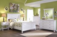 Ashley Kaslyn White 5 Pc. Dresser, Mirror & Queen Panel Bed