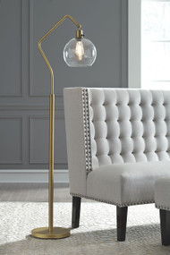 Ashley Marilee Antique Brass Finish Metal Floor Lamp (1/CN)