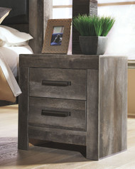 Ashley Wynnlow Gray Two Drawer Night Stand