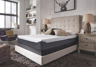 Sierra Sleep 10 Inch Chime Elite White/Blue Queen Mattress